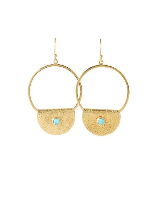 EMELLi Jewellery | Metallic Empire Turquoise Earrings | Lyst