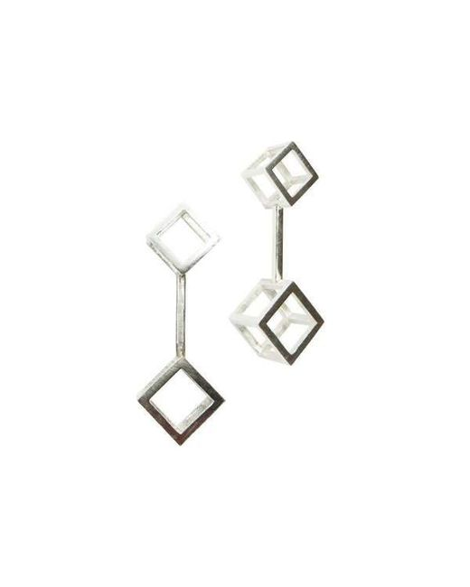 Stephanie Bates - Multicolor Double Cube Drop Earrings Long - Lyst