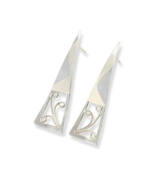 Monica Fiorella Jewelry - Multicolor Wavy Modern Filigree Earrings - Lyst