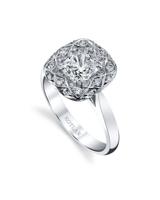 Harry Kotlar - Metallic Cushion Cut Bloom Artisan Pave Ring - Lyst