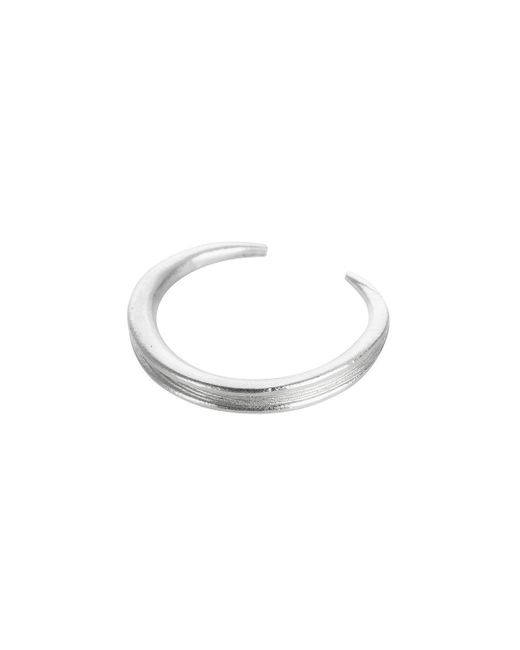 AWU Fine Jewelry - Multicolor Sterling Silver Slim Leaf Ring   - Lyst