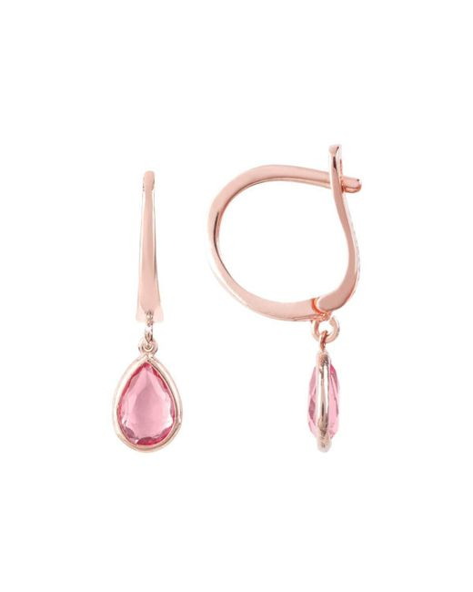 Latelita London Pisa Mini Teardrop Earrings Rose Gold Pink Tourmaline Ai6Bf