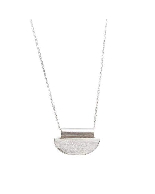 Sweet Hyena | Metallic Luna Mini Silver Necklace | Lyst