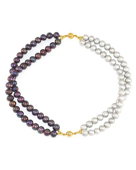 Regenz | Metallic Transformer Pearl Bracelet-necklace | Lyst