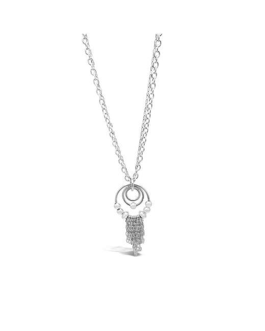Designs by JAK - Metallic Eastern Promises Beaded Rings Dangle Necklace (long) - Lyst