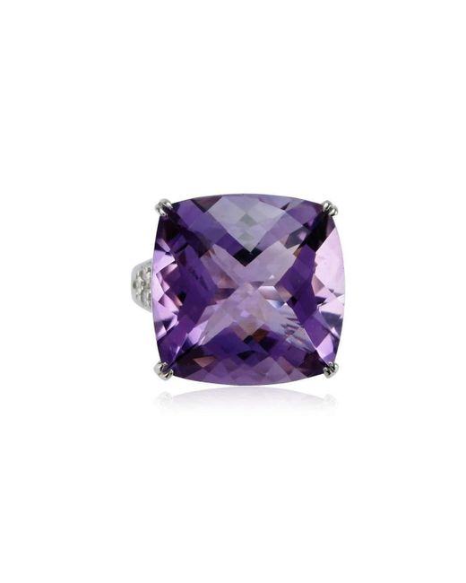 Cherie Thum - Multicolor Fire And Ice Cushion Amethyst Ring - Lyst