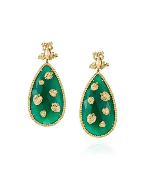 Maria Kovadi Fine Jewellery - Green Precious Pond Earrings - Lyst