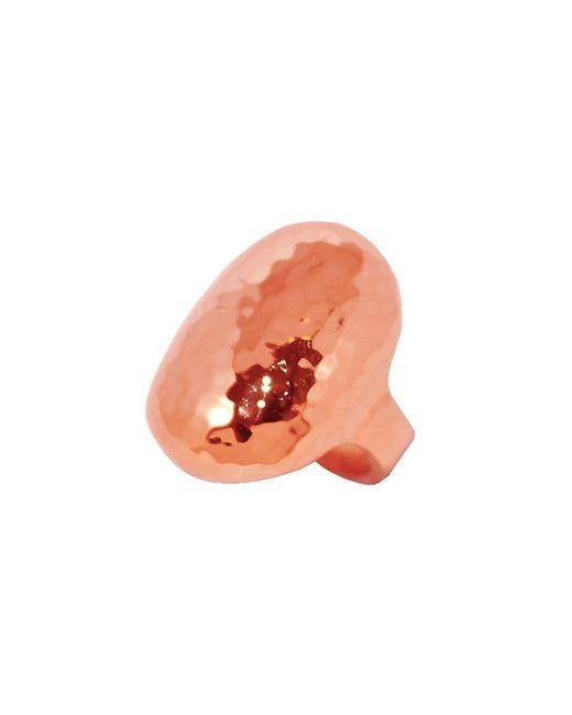 Murkani Jewellery - Orange Rose Gold Creation Oval Ring | - Lyst