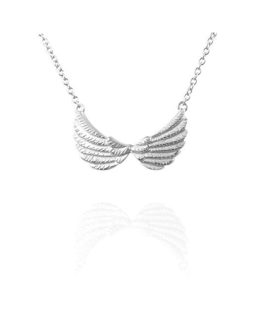Jana Reinhardt Jewellery - Multicolor Silver Tiny Double Wing Necklace - Lyst