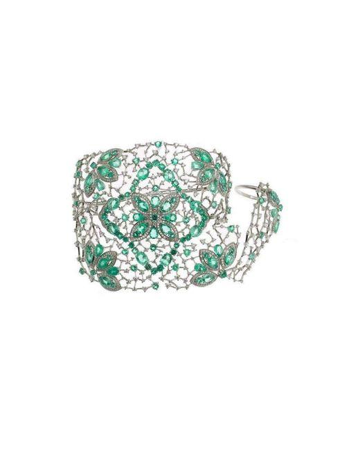 Gaydamak | Multicolor Emerald Ring And Cuff Bracelet | Lyst
