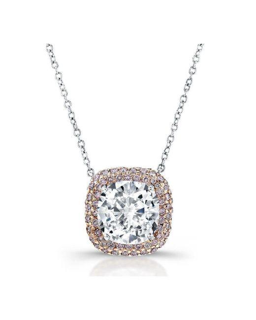 Harry Kotlar - Metallic Kotlar Cushion Diamond Solitaire Arabesque Necklace - Lyst