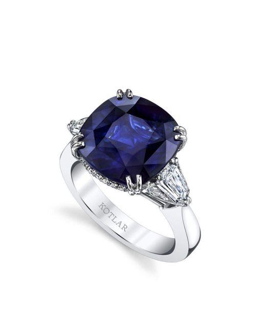 Harry Kotlar - Blue Cushion Cut Sapphire Classico Ring - Lyst