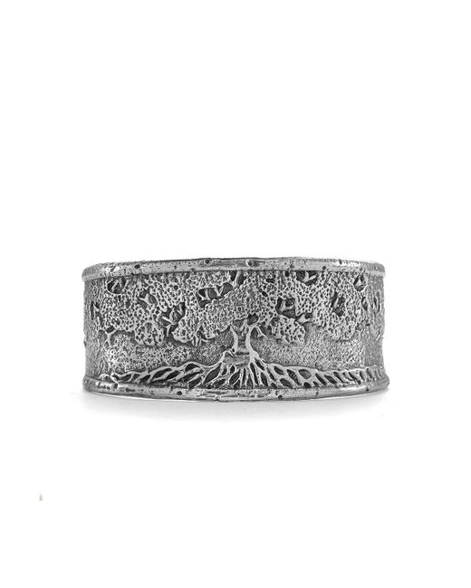 House of Alaia - Metallic Tree Of Life Cuff Bracelet In Silver - Lyst
