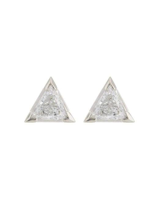 Alexis Danielle Jewelry - Trillion Earrings White Gold - Lyst