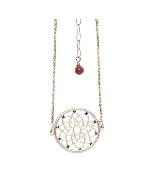 Conges - Multicolor Dream Catcher Bracelet With Sapphires And Sunstone - Lyst
