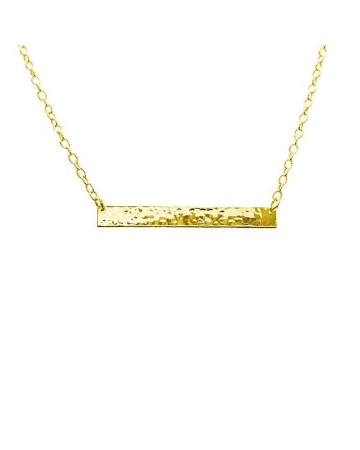 Murkani Jewellery - Multicolor Gold Plain Bar Necklace | - Lyst