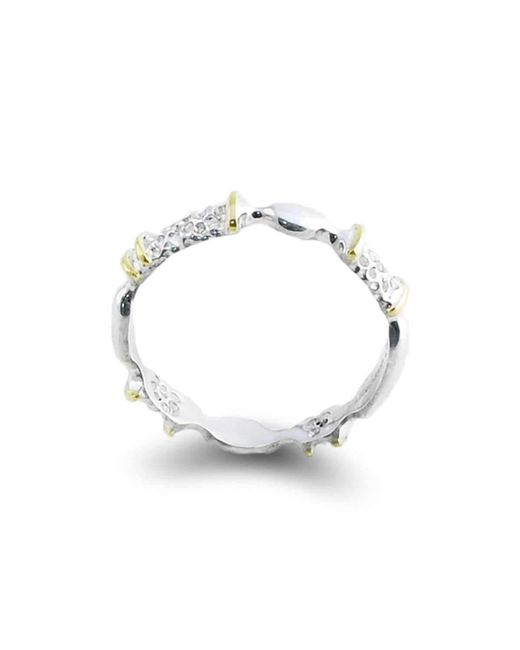 Agneta Bugyte | Metallic Alternative Classical Sterling Silver And Gold Ring With Accents | Lyst