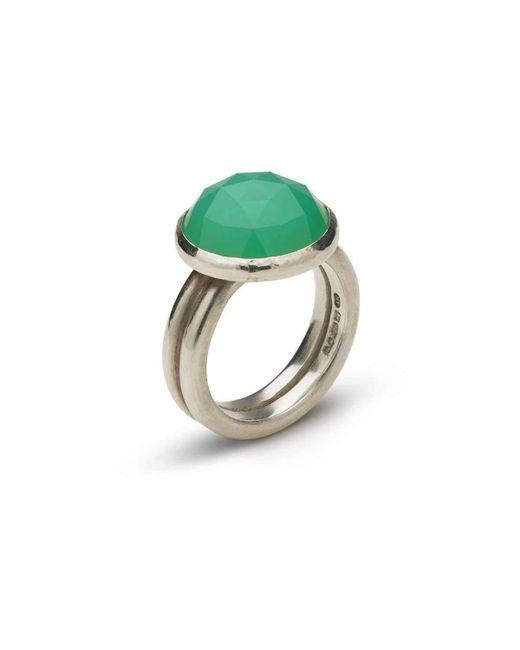 Naomi Tracz Jewellery - Green Rose Cut Chrysoprase Ring - Lyst