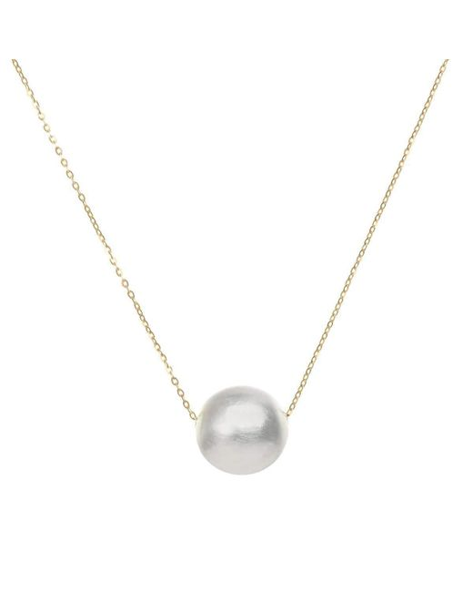 AWU Fine Jewelry - Metallic Gold & Silver Galaxy Sphere Necklace | - Lyst