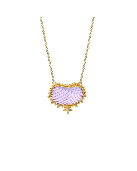 Nicofilimon - Multicolor Stone Wings Necklace - Lyst