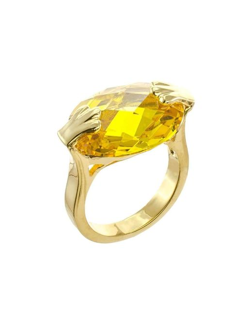 CZ by Kenneth Jay Lane | Yellow Faceted Cz Oval Ring | Lyst
