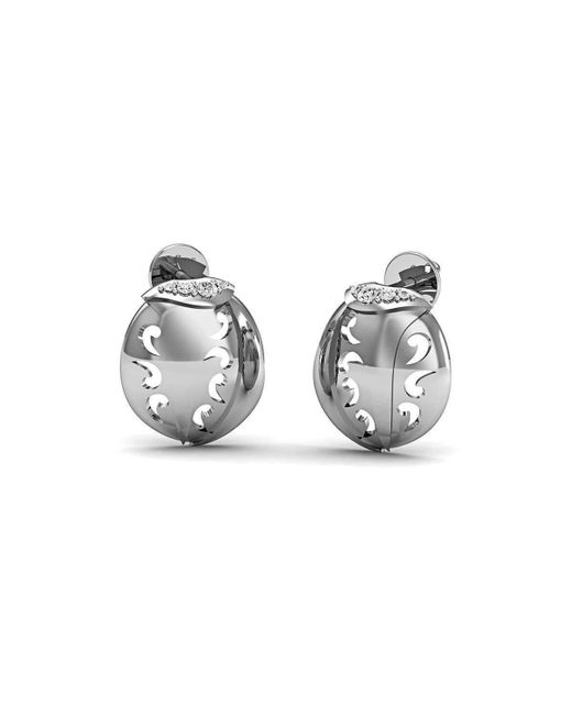 Diamoire Jewels Dignified Premium Diamond Earrings in White Gold jrNQpVD