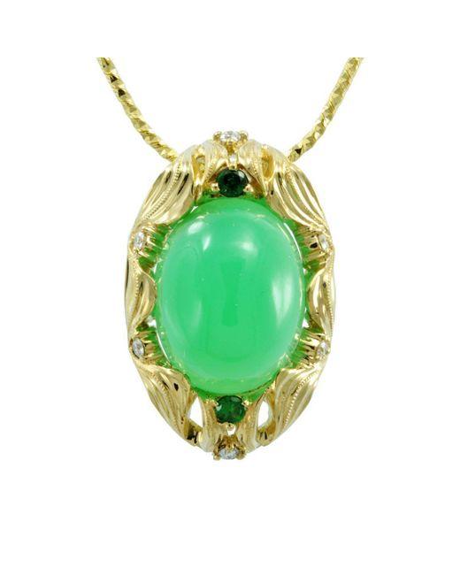 Alex Gulko Custom Jewelry - Green Chrysoprase Pendant - Lyst