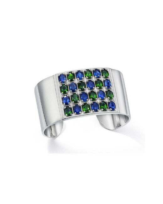 LJD Designs - Blue Geometric Cuff - Lyst