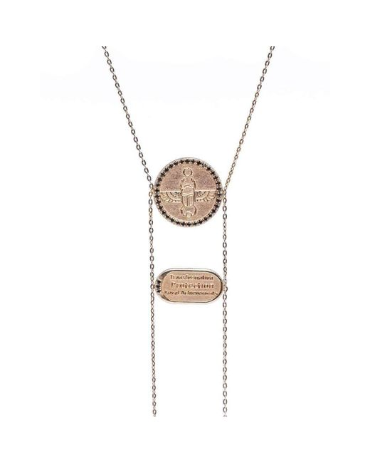 Conges - Multicolor Scarab Necklace With Black Diamonds - Lyst