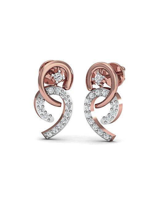 Diamoire Jewels   Metallic Frippery Diamond Earrings In 18kt Rose Gold   Lyst
