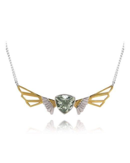 Anna Byers Jewellery   Multicolor Wing Necklace With Green Quartz   Lyst