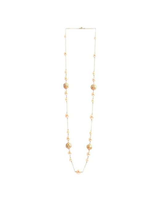 M's Gems by Mamta Valrani | Multicolor Firoza Chain With Pearls And Enamel Beads | Lyst
