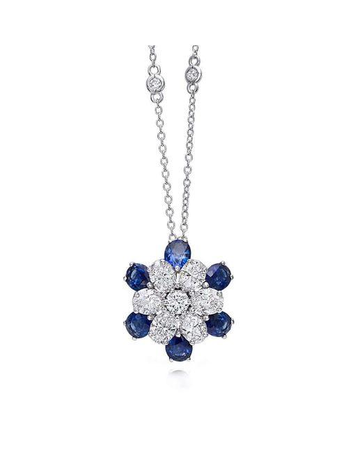 Pinomanna - Blue White Gold & Sapphire Mama Non M'ama Collection Necklace   - Lyst