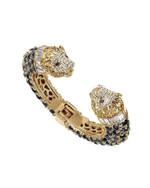 BuDhaGirl - Metallic Gold Lion Cuff Bracelet | - Lyst