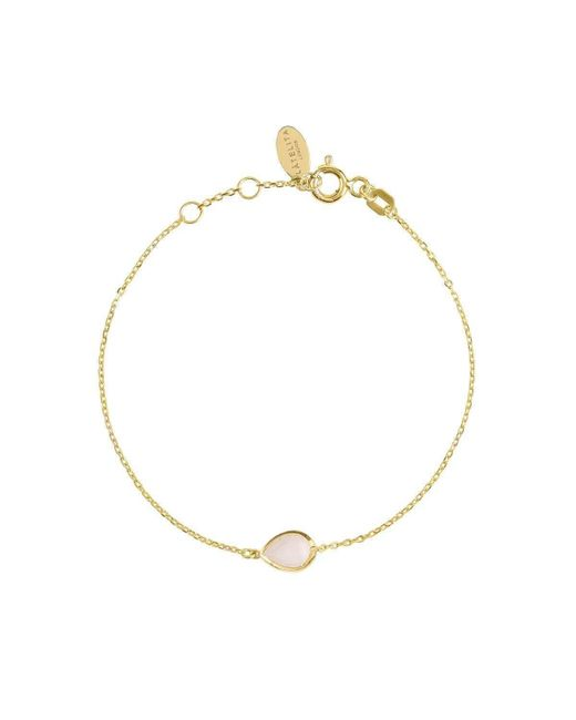 Latelita London - Metallic Pisa Mini Teardrop Bracelet Gold Rose Quartz - Lyst