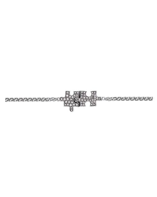 Akillis Puzzle White Gold Xs Solo Bracelet With Black Diamonds ThZCULQel