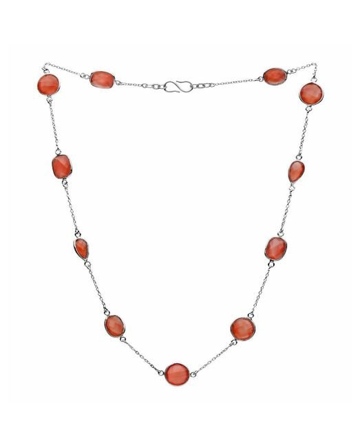 Donatella Balsamo   Metallic Amazonia Red Onyx Chain Necklace Silver   Lyst