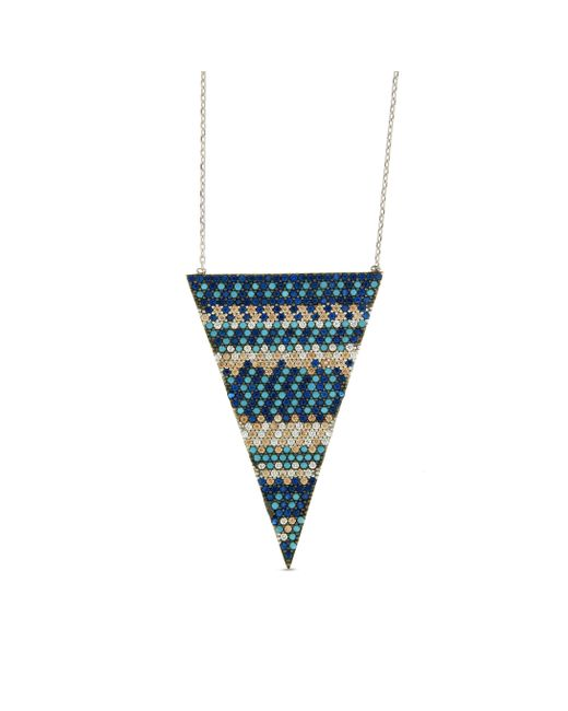 Cosanuova - Blue Flat Multicolor Triangle Necklace - Lyst