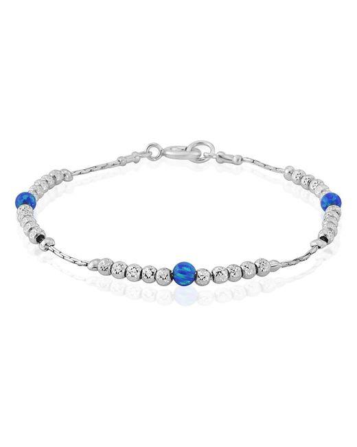Lavan - Sparkling Silver Dark Blue Opal Bracelet - Lyst