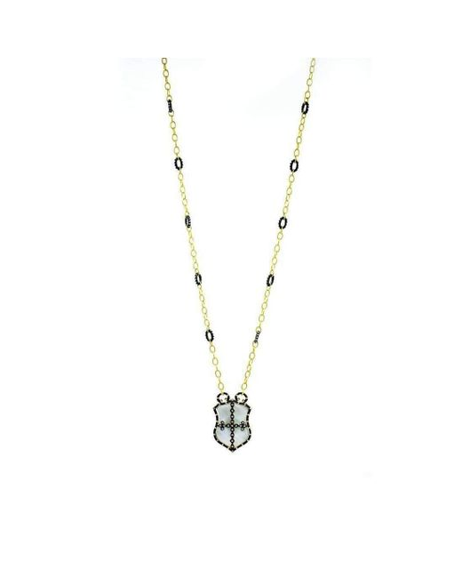 Freida Rothman - Metallic Metropolitan Shield Necklace - Lyst
