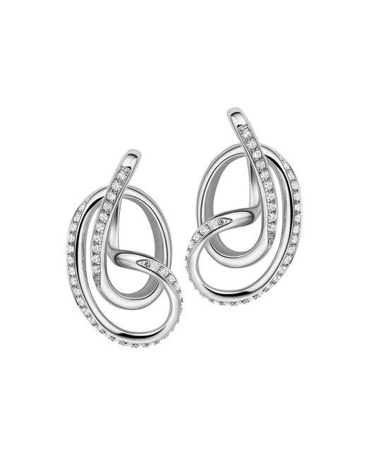 Fei Liu - Metallic Rhodium Plated Serenity Stud Earrings - Lyst