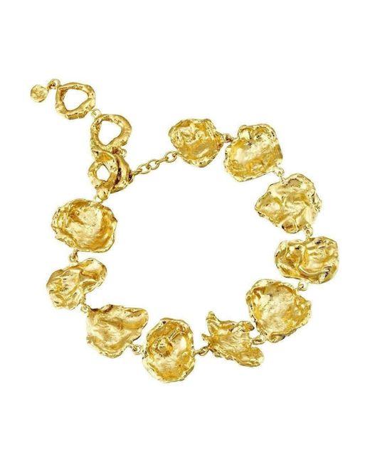 Joseph Lamsin Jewellery - Metallic Gold Rippled Bracelet - Lyst