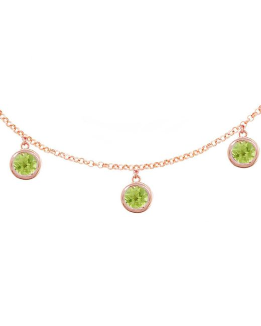 London Road Jewellery - Metallic Stylish Rose Gold Peridot Dew Drop Necklace - Lyst