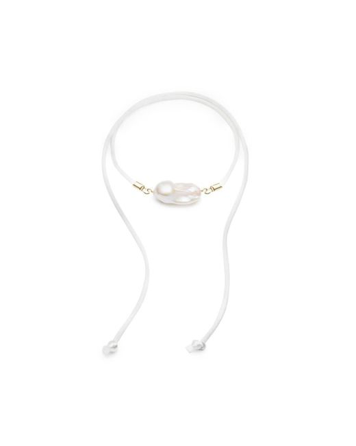 JEAN JOAILLERIE - Multicolor Baroque Freshwater Pearl & Satin Anklet-necklace - Gold - Lyst