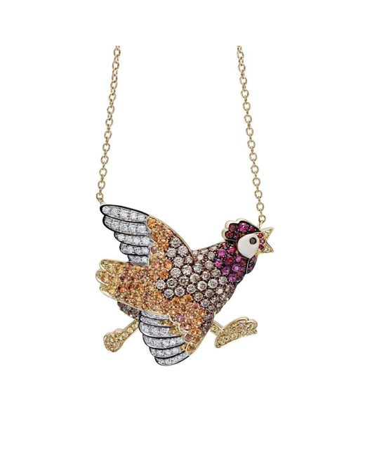 Pinomanna - Multicolor Natural Chic Running Chicken Necklace - Lyst