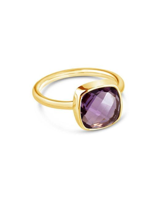Lily Blanche - Metallic Purple Amethyst Cocktail Ring - Lyst