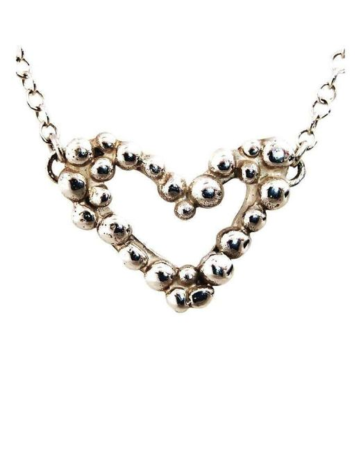 Charlotte Cornelius - Metallic Silver Bubble Heart Necklace - Lyst