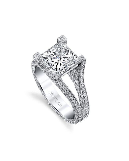 Harry Kotlar - Metallic Princess Cut Unity Ring - Lyst