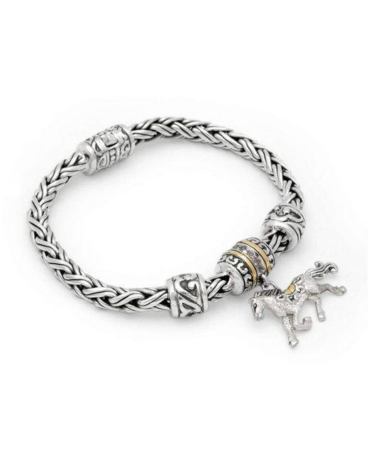 Deni Jewelry | Metallic Horse Charm Bracelet | Lyst