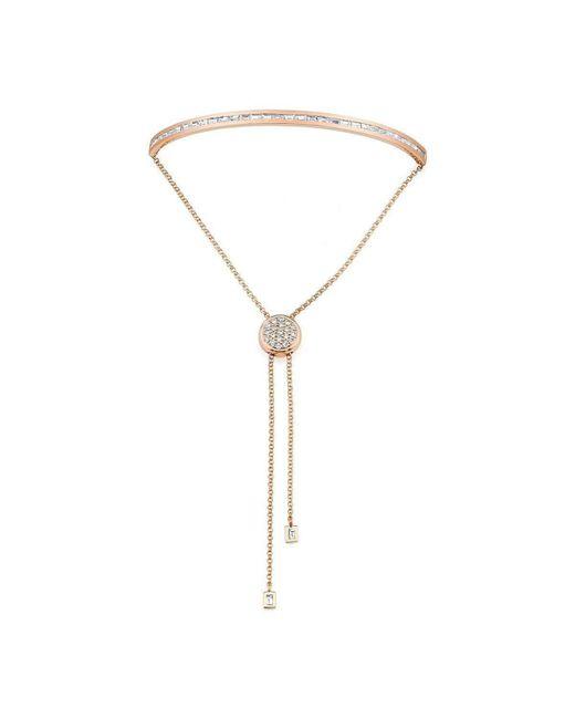 Borgioni - Metallic Baguette Toggle Bracelet Rose Gold - Lyst